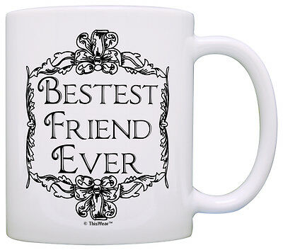 Gift for Friend Bestest Best Friend Ever Friendship Coffee Mug Tea
