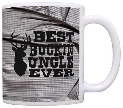 Father's Day Gift Best Buckin' Uncle Ever Deer Hunting Coffee Mug Tea