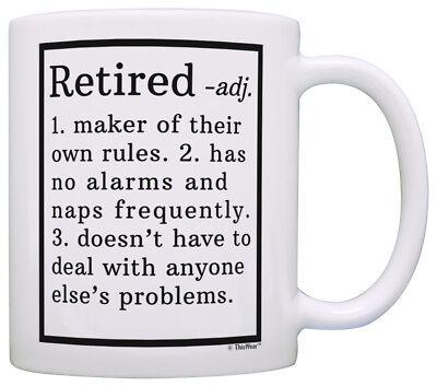 (Retirement Gift Ideas Retired Definition Funny Retirement Coffee Mug Tea Cup)