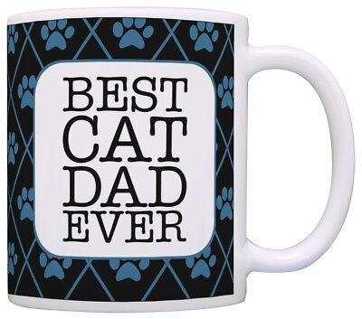 Cat Gifts for Men Best Cat Dad Ever Cat Lover Gifts for Men Coffee Mug Tea