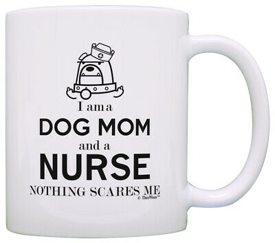 Nursing Graduation Gifts (Graduation Gifts for Nurse Gifts I am a Dog Mom and Nurse RN Gifts Coffee)