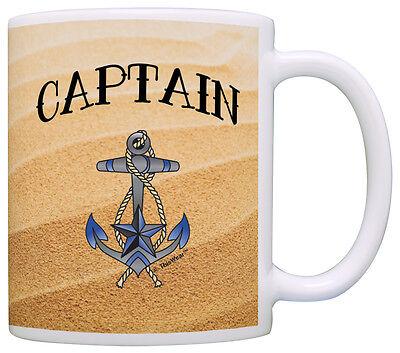 Sailing Gift Captain Nautical Anchor Beach Sand Themed Coffee Mug Tea Cup