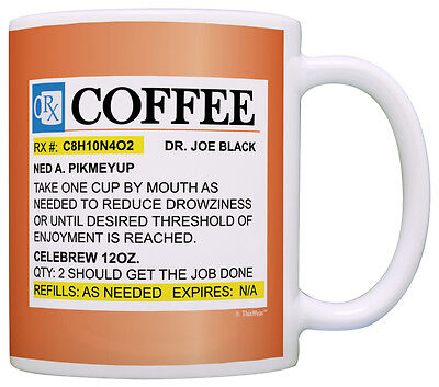 Coffees Gifts Prescription Coffee RX Pill Bottle Pharmacist Coffee Mug Tea Cup (Pill Bottle Mug)