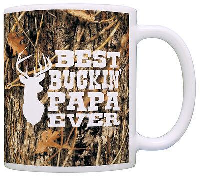 Grandpa Gifts Hunting Camo Best Buckin' Papa Ever Coffee Mug Tea