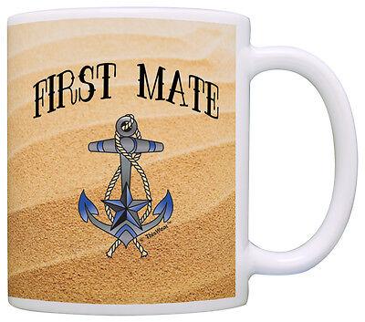 Sailing Gift First Mate Nautical Anchor Sailing Themed Coffee Mug Tea Cup