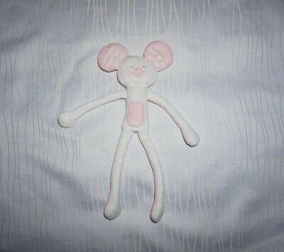 Ergee KIK Kuscheltier Maus weiß/rosa Stofftier Plüschtier TOP Zustand!