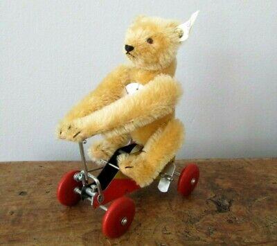 Steiff Teddy Bear On Tricycle Wind Up Toy Ltd 400919 Genuine Mohair UrTeddy 1926