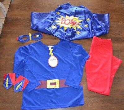 Pottery Barn Kids Amazing Boy Halloween Superhero Costume 7-8 Years NEW