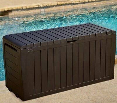 Storage Deck Box Outdoor Container Bin Chest Patio Keter 71 Gallon Bench Seat ()