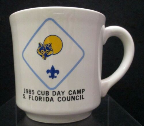 Old 1985 Cub Scout Day Camp Coffee Mug Cup S Florida Council