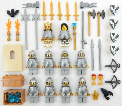 10 NEW LEGO CASTLE KNIGHT MINIFIG LOT Kingdoms figures minifigures falcon got
