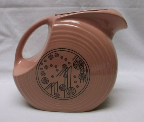 Fiesta Large Disc Rose Pink Champagne Pitcher