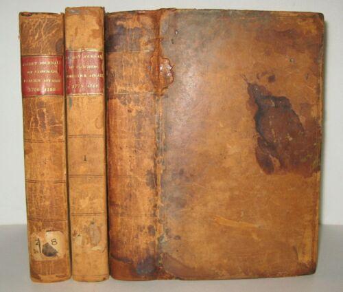X RARE❤️ 1775-1788_SECRET JOURNALS  OF CONGRESS_UNITED STATES_GEORGE WASHINGTON_