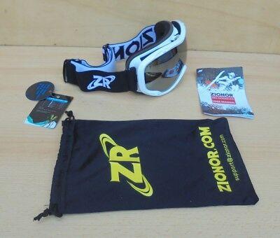 Zionor Skibrille schwarz-weiß Ski Schnee Brille Snowboard