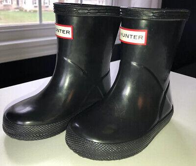 Toddler Black Hunter Boots (Hunter Kids Boots Original First Class Toddler 5B US Brand)