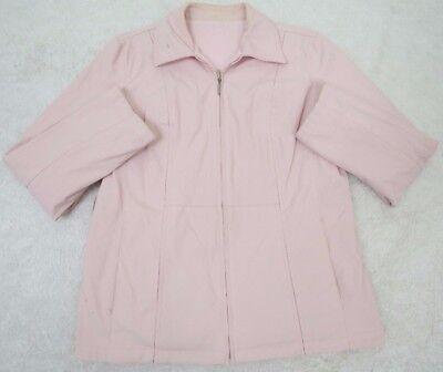 Weather Tamer Zip Front Jacket (Weather Tamer Jacket Coat Medium Pink Women's Solid Zip Front Reversible Woman's )