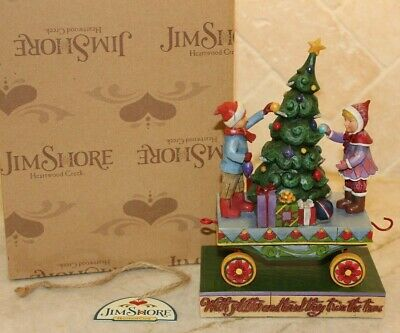 Jim Shore RARE Christmas Tree Train On Track With All The Trimmings 4011074 MIB ()