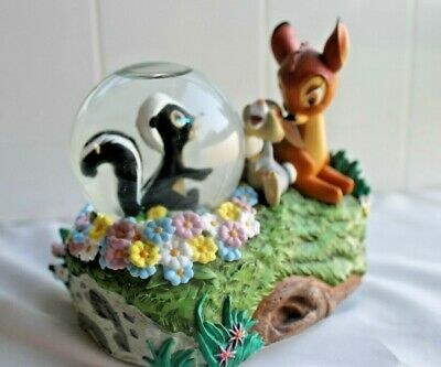 "Rare WALT DISNEY Parks BAMBI SNOW GLOBE PLAYS""Little April Showers"" 1942"