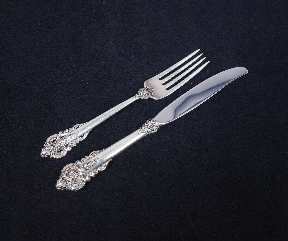 "Wallace Sterling Grande Baroque 8/"" Dinner Size Fork"