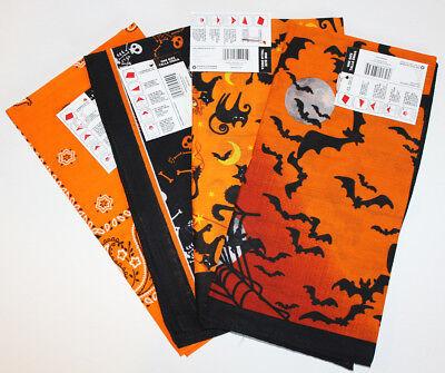 HALLOWEEN DESIGN BANDANAS 4 PACK  - Halloween Bandanas
