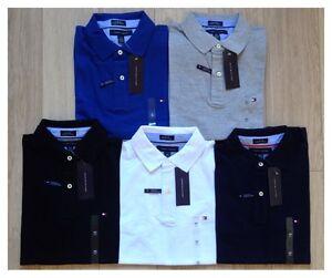 Tommy-Hilfiger-Men-039-s-Polo-Shirts-S-M-L-XL-XXL