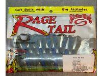 "#RGBUG -808 BLACK BLUE SWIRL Strike King Rage Tail 4/"" structure Bug 2 Pk 9 CNT"