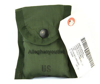 GENUINE US Military Army FIRST AID COMPASS POUCH Carrier Case w/ Alice Clip NWT