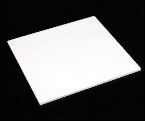 "SALE 1/4"" (6mm) Solid White 12""x12"" Poly Styrene High Impact Sheet (HIPS) AZM"