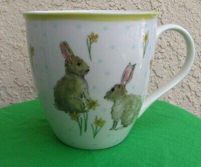 🌸 MILLY GREEN  Easter Bunny Rabbit Coffee / Tea Mug - Designed in England - NEW Easter Bunny Rabbit Green