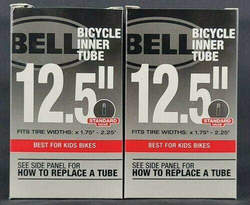 "Bell Standard Valve 12.5""x 1.75-2.25"" Bicycle Inner Tubes For Kids Bike (2 Pack)"