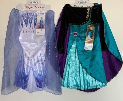 Disney Frozen 2 Snow Queen Elsa Queen Anna Dress Up  Costume SET 4-6X (Disney Frozen Anna And Elsa Dress Up)