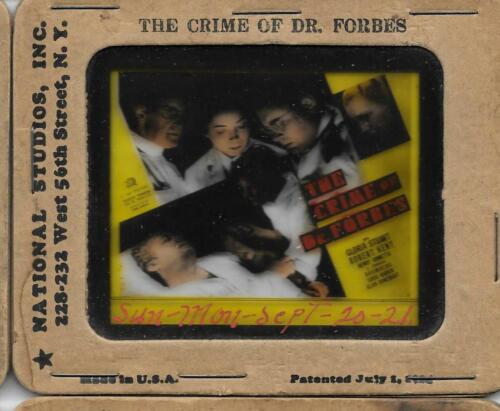 The Crime of Dr. Forbes 1936 Vintage Glass Slide Gloria Stuart Robert Kent
