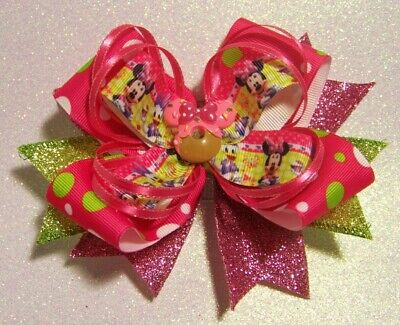 Minnie Mouse Party Themes (Handmade Minnie Mouse Party Theme Hairbow Hair)