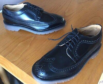 Vintage Dr Martens black leather brogue shoes UK 7 EU 41 Made in England
