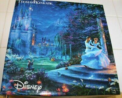 Thomas Kinkade Puzzle Disney Cinderella Dancing in Starlight complete & Poster