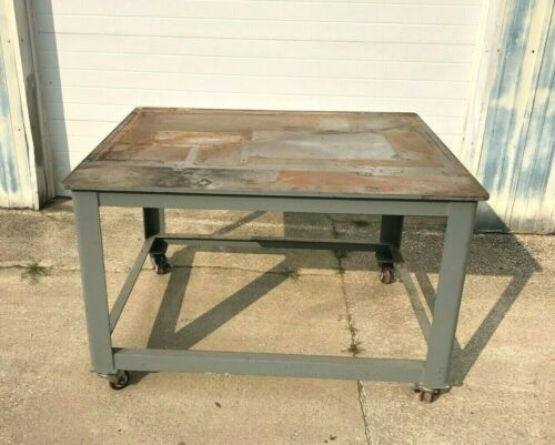 """Brute Machine Base, 60""""x48"""" Table Top, Rolling Heavy Duty Station on Casters"""