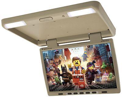 "Rockville RVM16FD-BG 16"" TFT Beige Flip Down Car Monitor w/ USB/SD/Video Games"