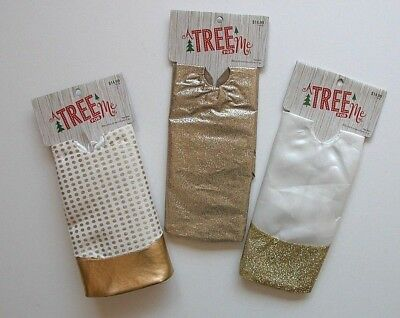 NEW NIP Christmas A Tree Skirt for Me Gold White 20 Inch Miniature Mini ()