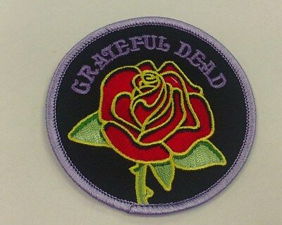 GRATEFUL DEAD EMBROIDERED PATCH ROSE LOGO 3 INCHES ROUND - Dead Rose