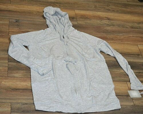 a Glow Maternity Light Weight Hoodie Super Soft Long Sleeve Full Zip with Hood