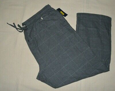 Polo Ralph Lauren Mens Pajama Lounge Pants Sleepwear Plaid Big & Tall Flannel #2 Mens Tall Flannel Pajamas