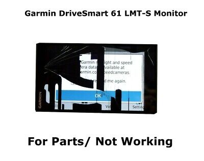"""Genuine Garmin DriveSmart 61 LMT-S 6.95"""" GPS Monitor ONLY For Parts/ Not Working"""