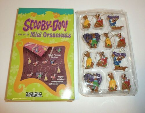 Set of 12 Mini Ornaments - Scooby Doo Cartoon Network Hanna Barbera Xmas