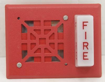Wheelock V7001t-24 Strobe Horn Red Fire Alarm New
