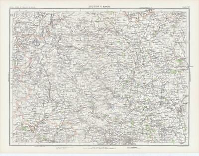 c1885 Large Map ENGLAND - SECTION V RIPON York Bartholomew (RA22)