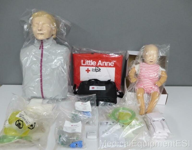 NEWAmerican Red Cross Basic Life Support training kit Iittle & Baby Anne