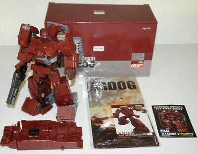 TRANSFORMERS BADCUBE WARDOG MASTERPIECE WARPATH LOOSE COMPLETE WITH BOX OTS-04