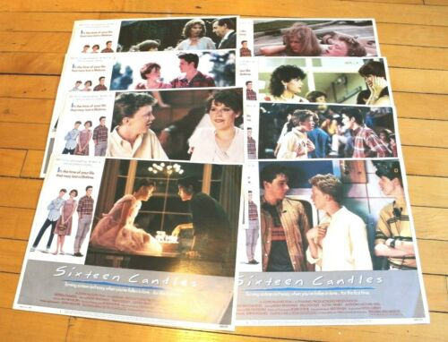 "8 Lobby Cards From Sixteen Candles!! 11x14"" Lithograph Movie Print Set Ringwald"