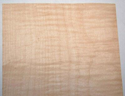 Curly Maple Veneer Sheets 6 X 25 Inches 142nd Raw Wood Veneer  7631-30