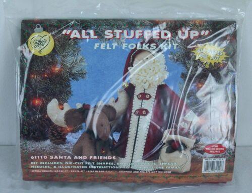 Santa and Friends Christmas Winter Felt Folks Kit Moose Bear Pre-Cut 61110